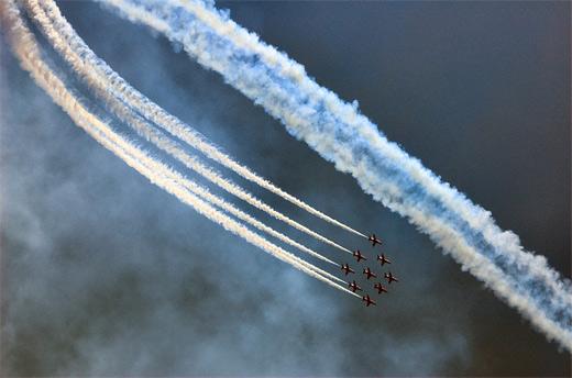 White smoke dark sky aerobatic airplane aircraftphotography