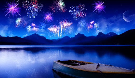 Fireworks boats free wallpapers hi res high resolution