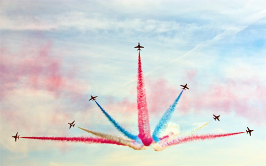 Amazing formation aerobatic airplane aircraftphotography