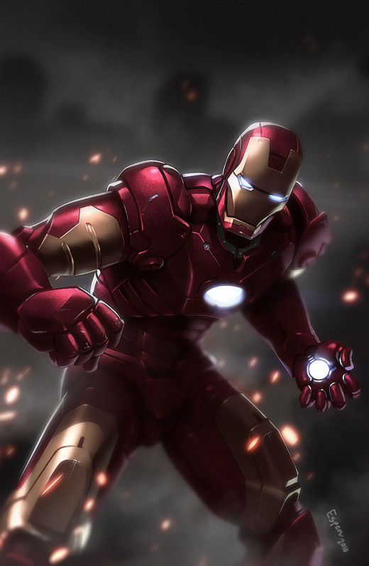 Epic fight ironman iron man illustrations artworks