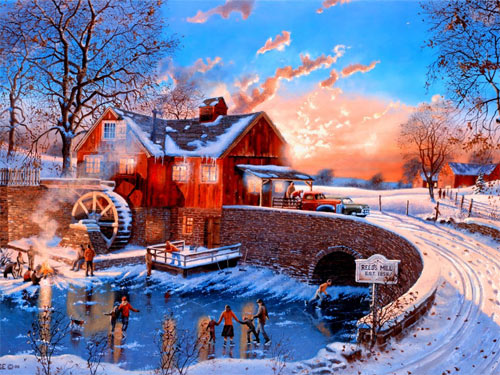 Divine Winter Painting