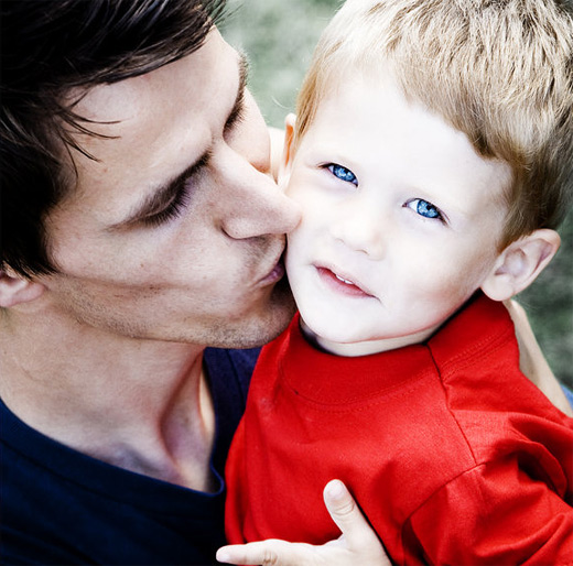 Handsome father child son daughter photography