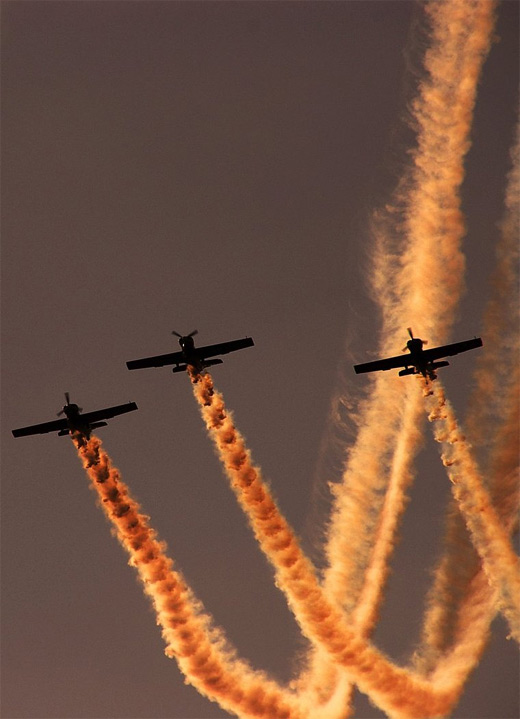 Orange aerobatic photography