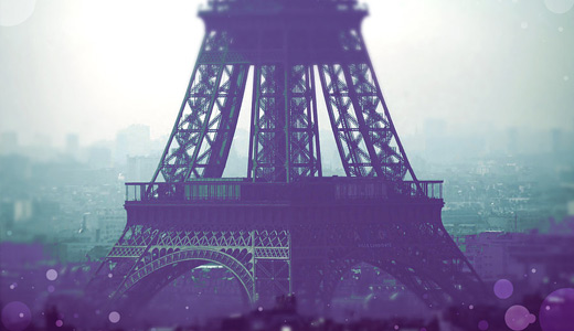 Purple bokeh eiffel tower wallpapers free download hi res