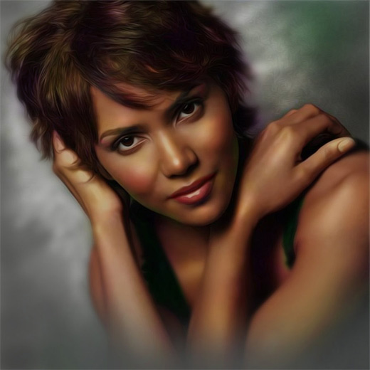 Halle berry digital art painting celebrity