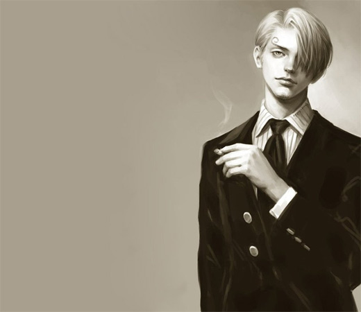 Cute handsome sanji one piece illustrations artworks