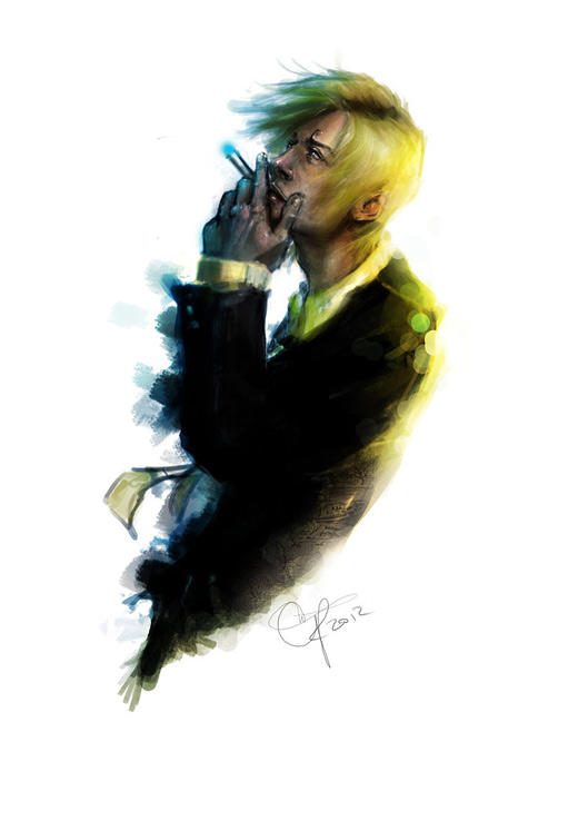 Smoking sanji one piece illustrations artworks