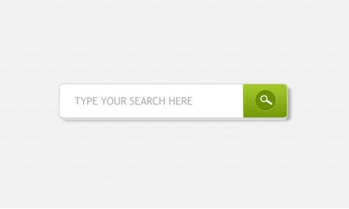Search field with green button