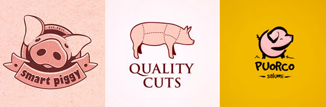 30 Cute Design Examples of Pig Logo for your Inspiration