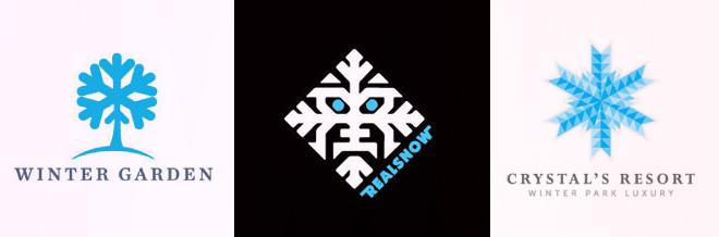 25 Simple Yet Creative Designs of Snowflake Logo