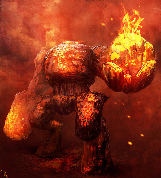 Golem fire colossus rift video game