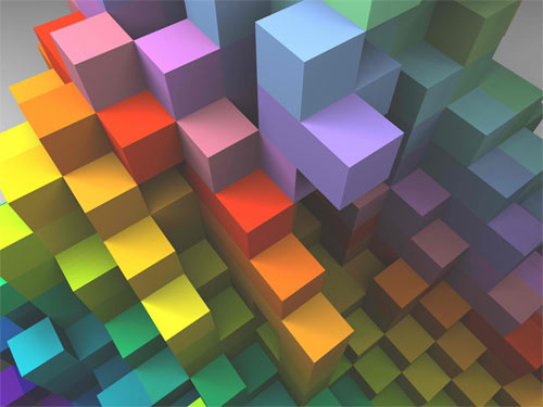 Cube Spectrum wallpaper