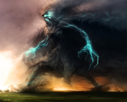 Storm lightning air colossus rift video game