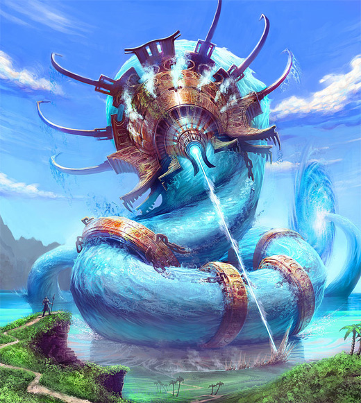 Worm water colossus rift video game