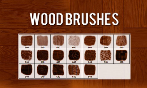 Wood Effect Photoshop Brushes