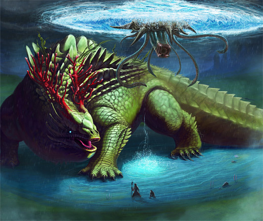 Reptile water colossus rift video game