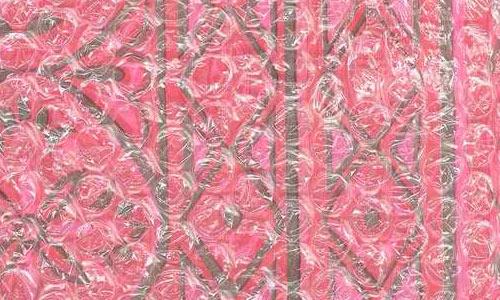 Pink Paper under Bubblewrap texture