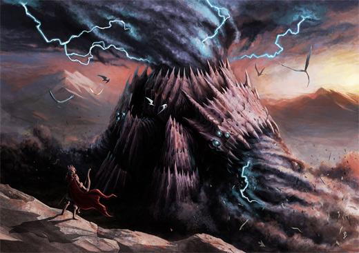 Mountain tornado air colossus rift video game