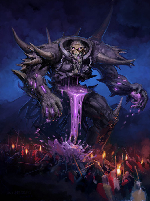 Purple skeleton rift death colossus illustrations artworks