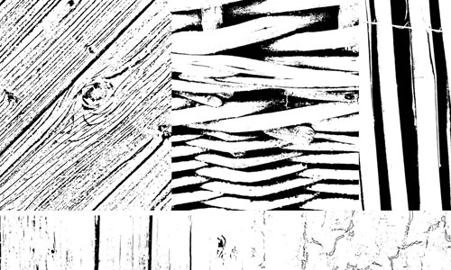 Photoshop Brushes - Wood Textures
