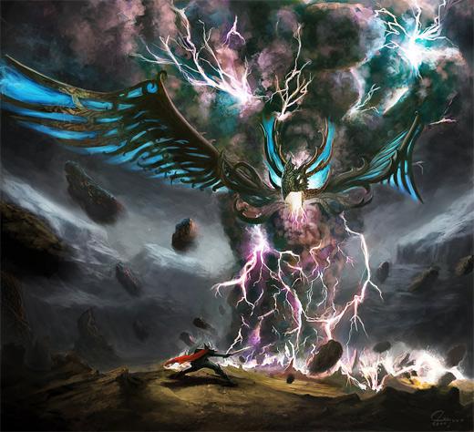 Tornado bird lightning air colossus rift video game
