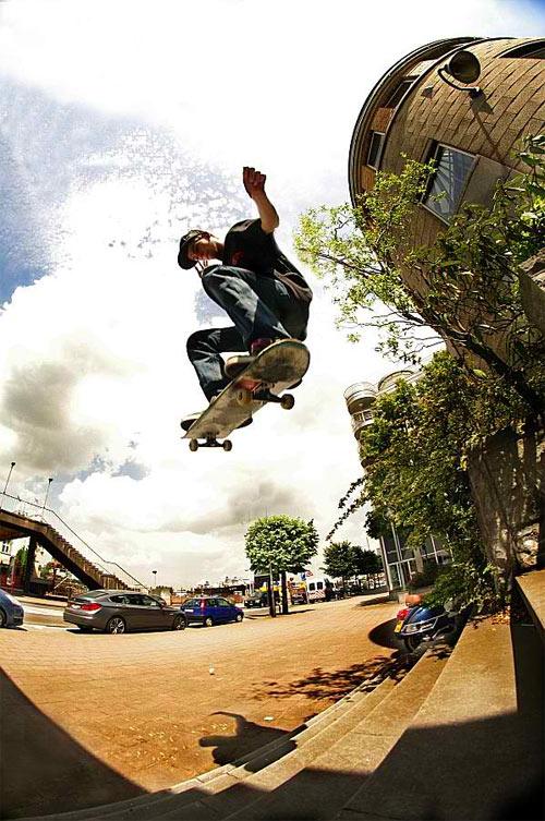 Skateboarding - Ollie 8 stair