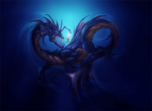 Sea dragon water colossus rift video game