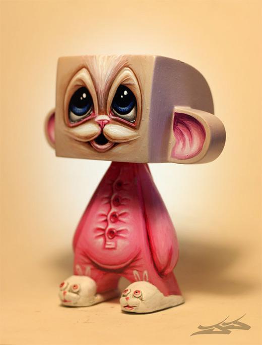 Cute pajama pink madl mad vinyl toy