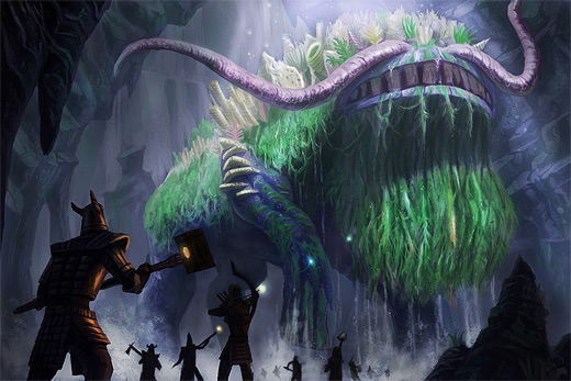 Huge creature water colossus rift video game