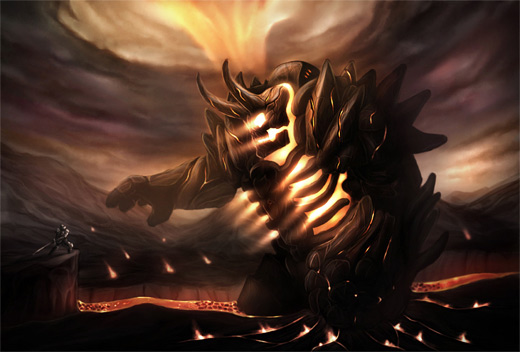 Light golem fire colossus rift video game