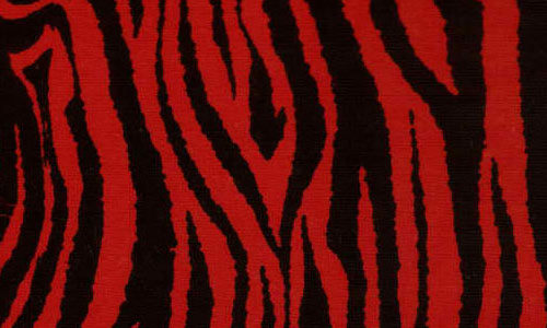 red n' black zebra fabric texture