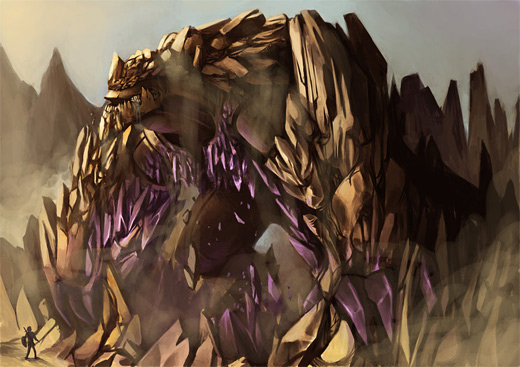 Cave golem rift earth colossus illustrations artworks