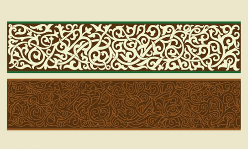 Beautiful Byzantine ornament in vector format
