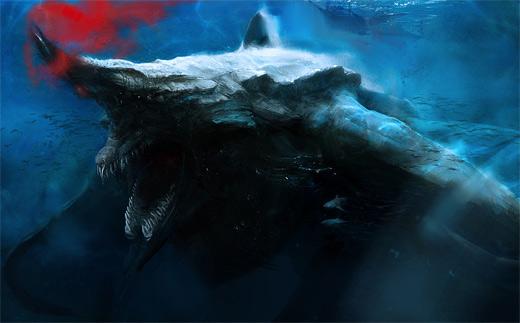 Shark water colossus rift video game