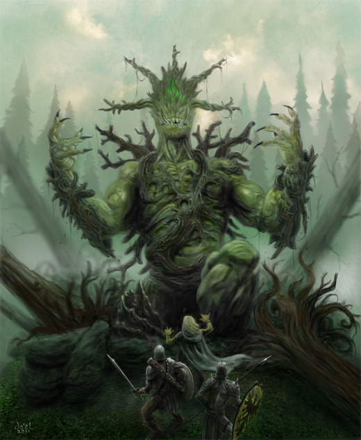 Scary wood tree monster life colossus rift game