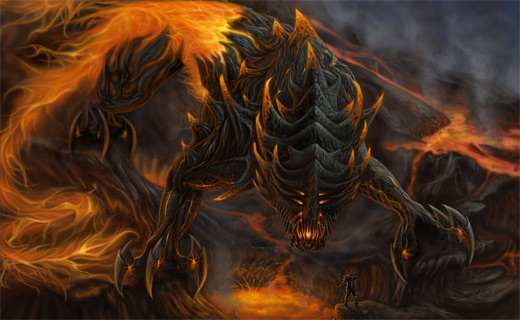 Creature fire colossus rift video game