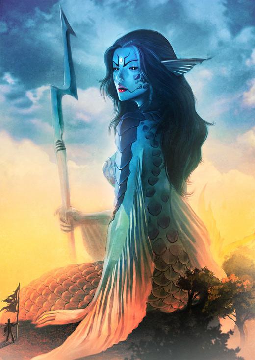 Mermaid water colossus rift video game