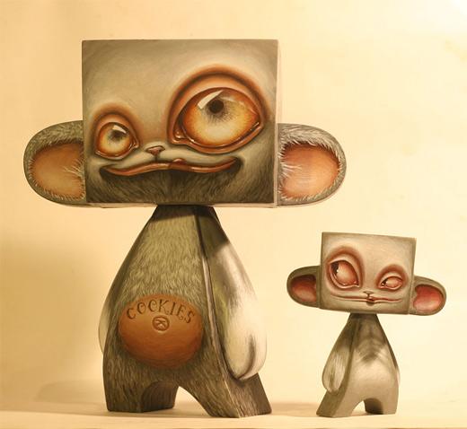 Monkey madl mad vinyl toy