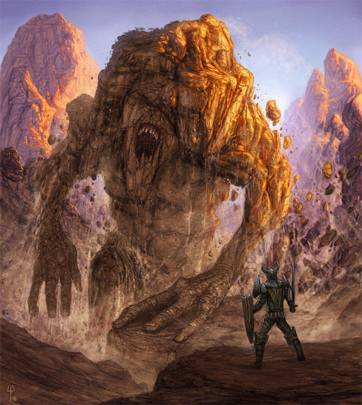 Scary mountain monster rift earth colossus illustrations artworks