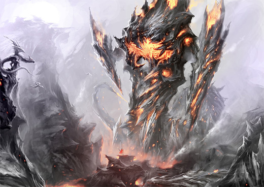 Monster fire colossus rift video game