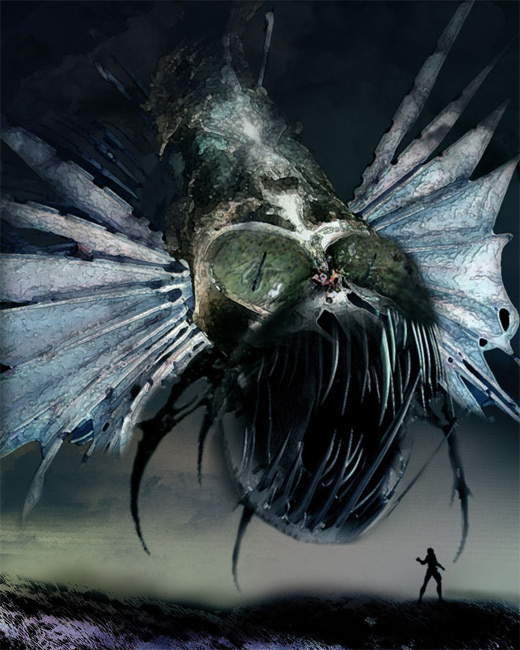 Sharp teeth insect air colossus rift video game