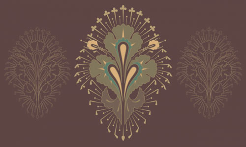 Vintage free vector ornament