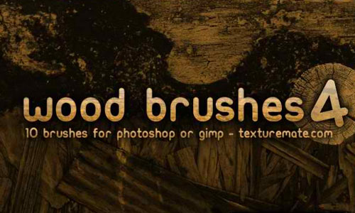 Wood 4 Brush Pack for Photoshop or Gimp