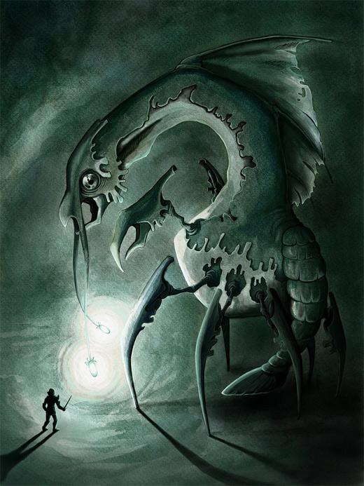 Angler alien water colossus rift video game