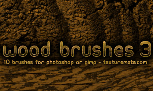Wood 3 Brush Pack for Photoshop or Gimp