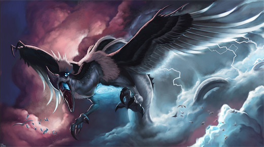 Flying monster air colossus rift video game