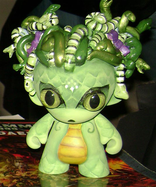 Green medusa ultimate vinyl toys design collection