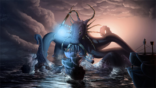 Octopus water colossus rift video game
