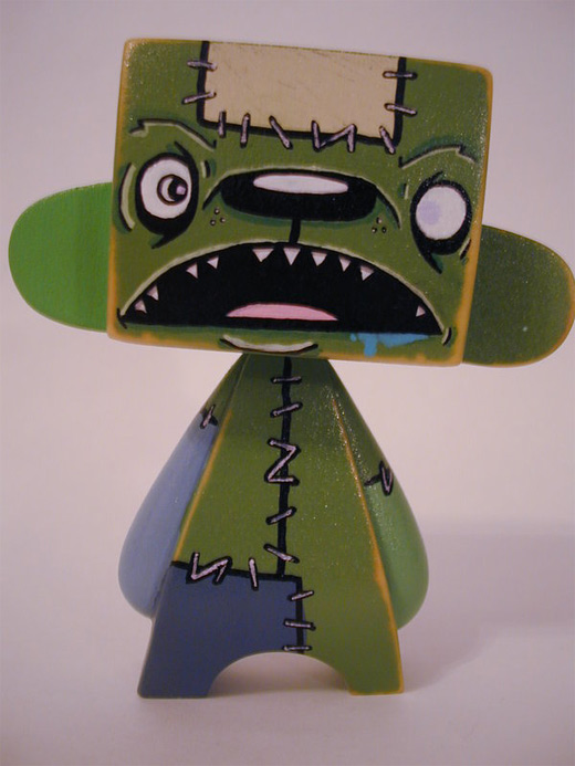 Green madl mad vinyl toy
