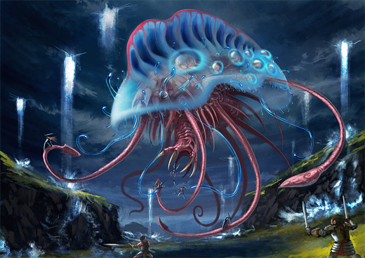 Jellyfish water colossus rift video game